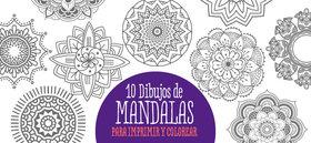 10 Dibujos de Mandalas para imprimir y colorear