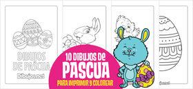 10 Dibujos de Pascua para imprimir y colorear