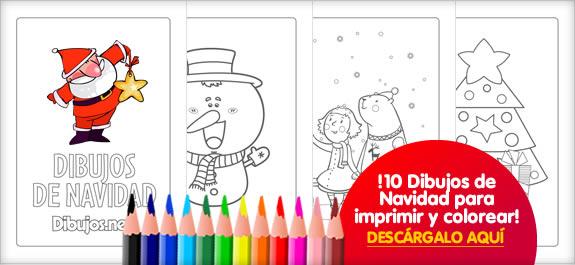 ¡Descárgate el libro para colorear de Dibujos de Navidad de Dibujos.net!