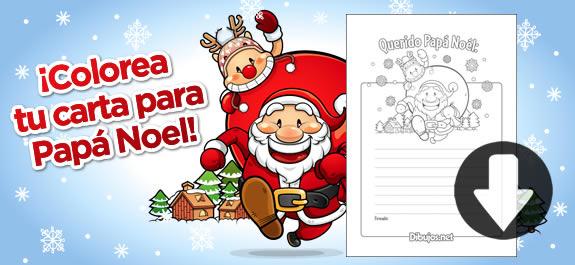 Dibujos De Papa Noel En Color Para Imprimir: Descarga E Imprime La Carta Para Papá Noel De Dibujos.net