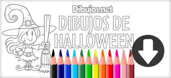 ¡Ya está aquí el descargable para colorear dibujos de Halloween de Dibujos.net!