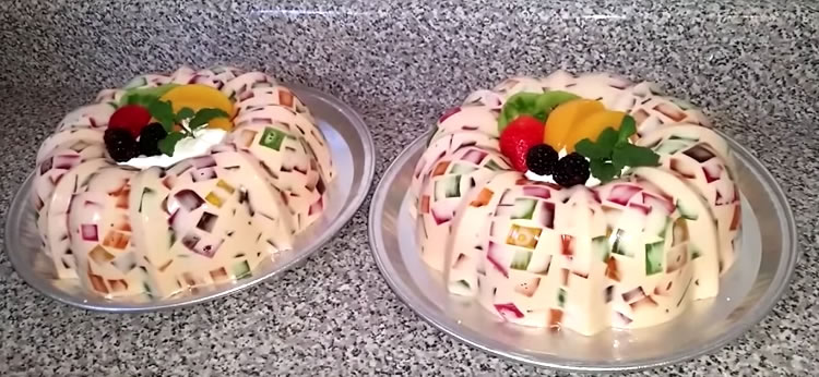 Gelatina de mosaico con leche condensada recetas para - Gelatina leche condensada ...